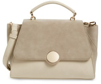 Sole Society Kenyon Faux Leather Satchel - White $64.95 thestylecure.com