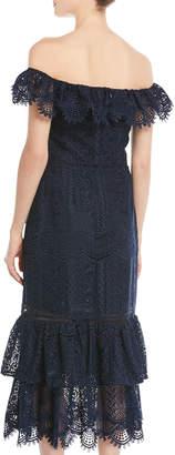 Shoshanna Celestina Double-Hem Dress