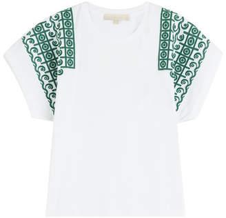 Vanessa Bruno Embroidered Cotton Top