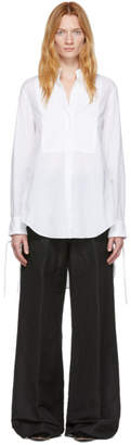 Ann Demeulemeester White Cotton Shirt
