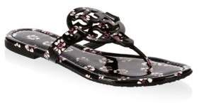 Tory Burch Floral Leather Thong Sandals