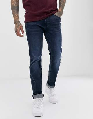 BOSS Maine regular straight fit jeans in mid wash