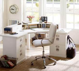Pottery Barn Bedford 5-Drawer Corner Desk