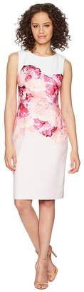 Calvin Klein Floral Placement Sheath Dress CD8C31JT Women's Dress