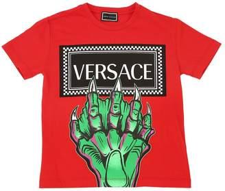 Versace (ヴェルサーチ) - YOUNG VERSACE MONSTER コットンジャージーTシャツ