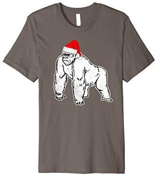 Love Gorillas Gorilla Santa Hat Tee Shirt Monkey Costume