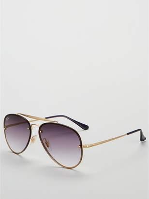ddd456cdfd Ray-Ban Blaze Aviator Demi Gloss Sunglasses - Purple Gold