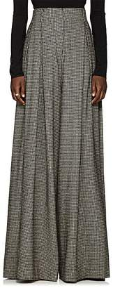 The Row Women's Garcia Houndstooth Camel Hair Wide-Leg Trousers