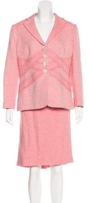 Rena Lange Silk-Blend Skirt Suit