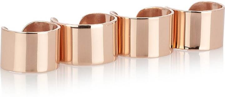 Maison Martin Margiela Set of four rose gold-plated knuckleduster rings