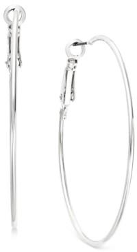 INC International Concepts I.n.c. Silver-Tone Slim Hoop Earrings, Created for Macy's