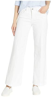 NYDJ Petite Petite Wide Leg Trouser in Optic White