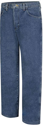 Bulwark PEJ6 Mens Stone-Washed Loose-Fit Jeans - Big