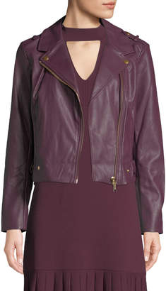 MICHAEL Michael Kors Faux-Leather Moto Jacket