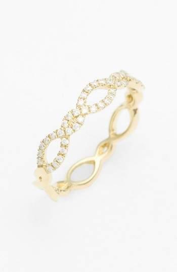 Bony Levy Women's Stackable Weave Diamond Ring (Nordstrom Exclusive)