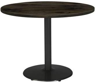 """LOFT KFI seating Urban 42"""" Round Top Table, Barnwood, Round Black Base, 29"""" H"""