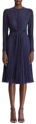 Ralph Lauren Cleona Starburst Pleated Dress