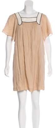 3.1 Phillip Lim Mesh-Accented Silk Dress Mesh-Accented Silk Dress