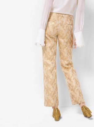 Michael Kors Floral Metallic Jacquard Trousers