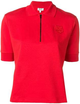 Kenzo tiger-patch polo shirt