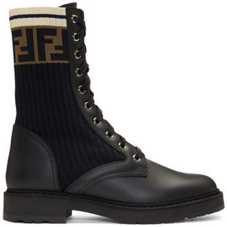 Fendi Black Forever Sock Boots