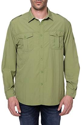 Co Trailside Supply Men's Quick-Dry Nylon Breathable Convertible Long Sleeve Fishing Shirt