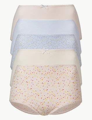 Marks and Spencer 5 Pack Cotton Rich Full Brief Knickers