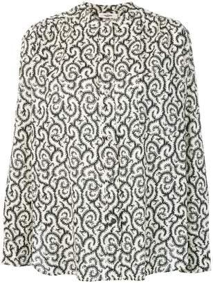 Etoile Isabel Marant swirl print mandarin collar shirt