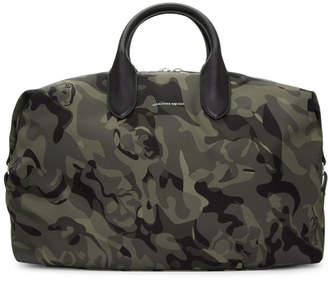 Alexander McQueen Green and Black Medium Holdall Camouflage Bag