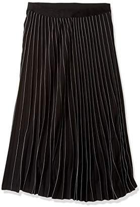 Max Studio Women's Pleated Stripe Skirt