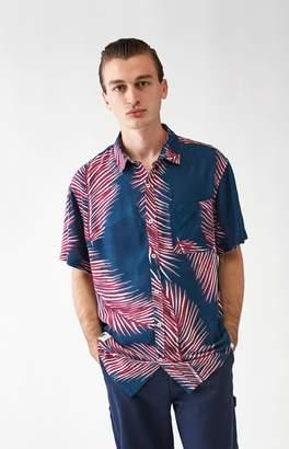 LIRA Giant Palms Short Sleeve Button Up Shirt