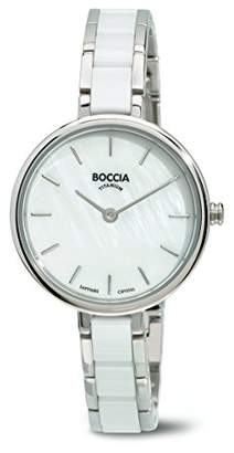 Mother of Pearl Boccia Women's Quartz Watch with Dial Analogue Display and White Titanium Bracelet B3245-01