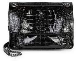 Saint Laurent Medium Niki Embossed Chain Flap Bag