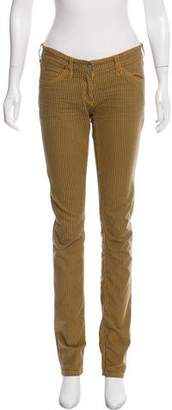 Etoile Isabel Marant Mid-Rise Stripe-Accented Jeans