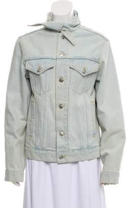 Balenciaga Stone-Wash Denim Jacket