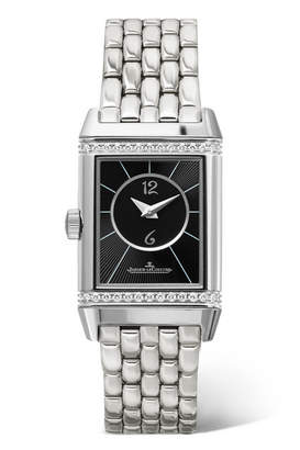 Jaeger-LeCoultre Reverso Classic Duetto Small Stainless Steel And Diamond Watch - Silver