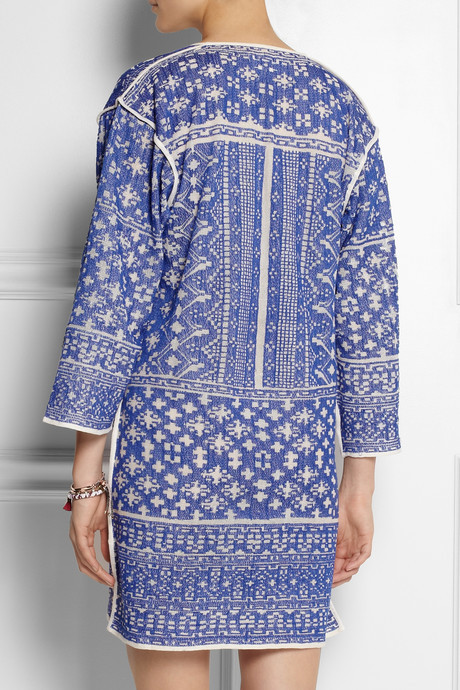 Etoile Isabel Marant Bloom woven cotton-blend mini dress