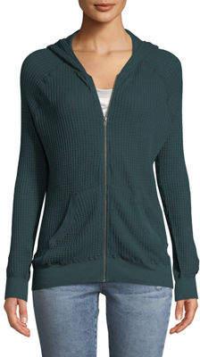 Three Dots Fireside Thermal Zip-Front Hoodie Sweatshirt