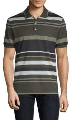 Salvatore Ferragamo Striped Pique Polo