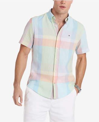 de71508d9 Tommy Hilfiger Men Caldwell Custom-Fit Pastel Plaid Shirt