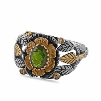 Emma Chapman Jewels Lily Tsavorite Diamond Ring