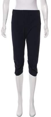 Zero Maria Cornejo Cropped High-Rise Skinny Pants