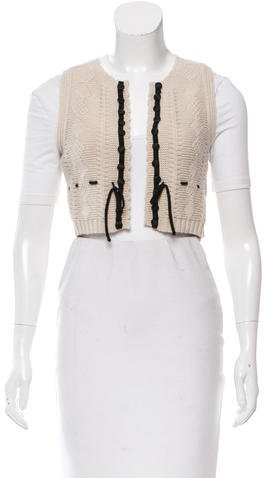 Chloé Chloé Wool Cable Knit Vest