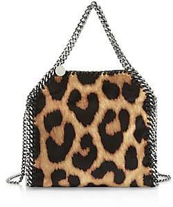 Stella McCartney Women's Mini Leopard Printed Velvet Monogram Canvas Hobo Bag