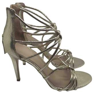 Sandro Gold Leather Sandals