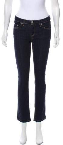 Rag & Bone Low-Rise Straight-Leg Jeans