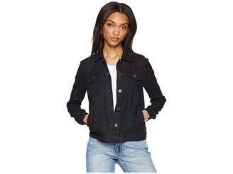 Michael Stars Woven Linen Jean Jacket Women's Coat