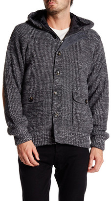 American Stitch Hooded Long Sleeve Faux Suede Elbow Patch Cardigan $161 thestylecure.com
