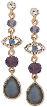 lonna & lilly Gold-Tone Crystal & Stone Evil-Eye Linear Drop Earrings