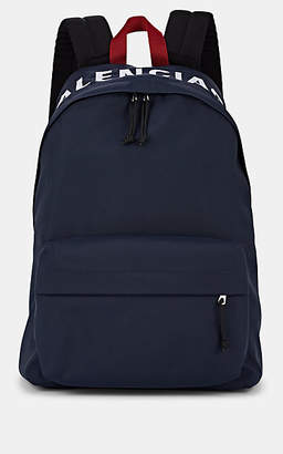 Balenciaga Men's Wheel Nylon Backpack - Navy